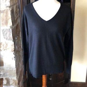 JCrew Black VNeck Pullover